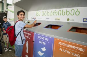 """Social Campaign """"GO Green with Goodwill"""" – First Recycling Corner"""