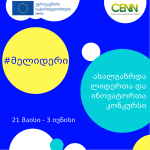 """CENN is Announcing a Second Round of the Young Leaders and Innovators competition """"Me Leader"""" In the framework of the EU ENPARD program"""